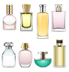 Perfume icons set 3 vector