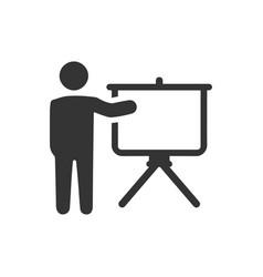 Presentation board icon vector