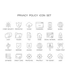 Privacy policy icon set vector