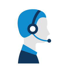 profile man operator of customer service with vector image