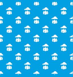 rain weather pattern seamless blue vector image