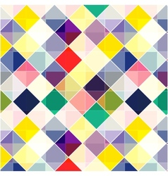 Retro seamless pattern Colorful mosaic banner vector image vector image