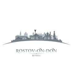 Rostov-on-don russia city silhouette white vector