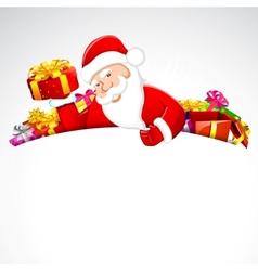 Santa Claus with Christmas Gift vector image