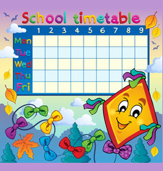 School timetable thematic image 8 vector