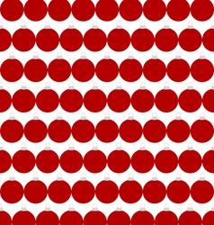 Seamless background of Christmas balls vector image