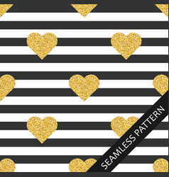 seamless pattern with shiny hearts with glitter on vector image