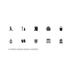 Set of 10 editable cleanup icons includes symbols vector