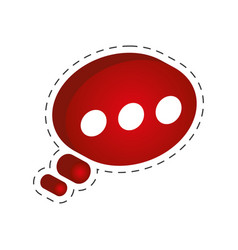 speech bubble communication cut line vector image