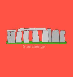 Stonehenge icon isolated on white background vector