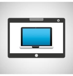 Tablet pc technology laptop vector