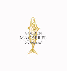 the golden mackerel restaurant abstract vector image