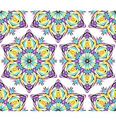 Thin Kaleidoscopic Flower Pattern vector