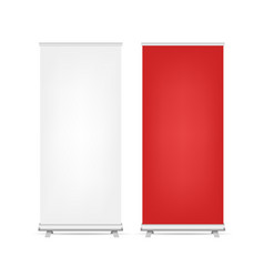 two roll up banners set isolated vector image