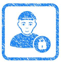 User lock framed stamp vector