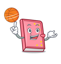 with basketball diary character cartoon style vector image