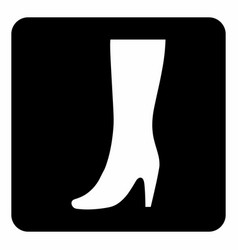 women boot icon vector image