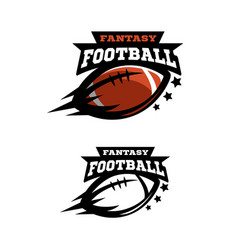 american football fantsy two options logo vector image