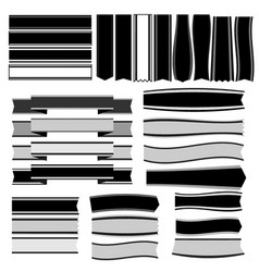 black and white ribbons and banners vector image vector image