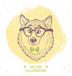 Dog stylish vector image vector image