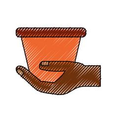 empty gardening pot vector image