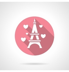 Love tour round pink icon vector image