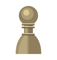 Pawn in Flat Style Design vector image