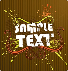 Retro Brown Background vector image