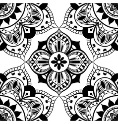 Simple black and white pattern vector image vector image