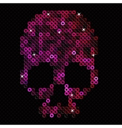 Skull pink Beads sequins vector image vector image