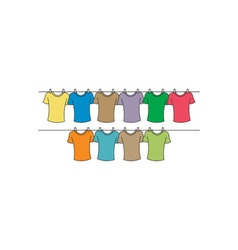 T-shirts-drying-380x400 vector image