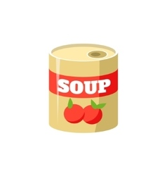 Tomato Soup In Can Simplified Icon vector image