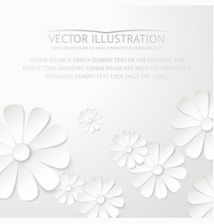 White paper flower postcard vector image vector image