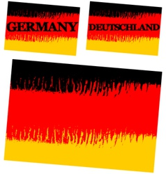 abstract flag of Germany vector image