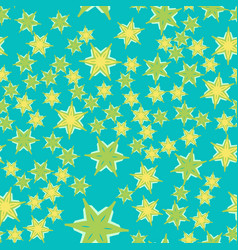 Azure tiles seamless pattern fabric colorful vector