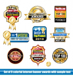 certification stickers vector image vector image