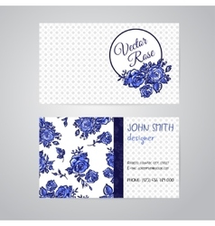 flowers business cards set vector image vector image