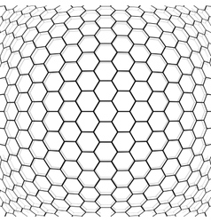 Hexagon abstract background vector image