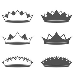 Set of six Crown Isolated vector image vector image