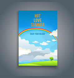 summer blank with rainbow vector image vector image