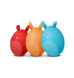 Three eggs - rabbits vector image