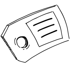 Badge or label symbol vector image vector image