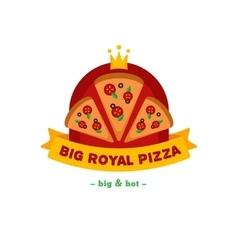 bright pizza restaurant logo Brand sign vector image vector image