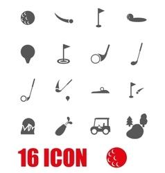 grey golf icon set vector image vector image