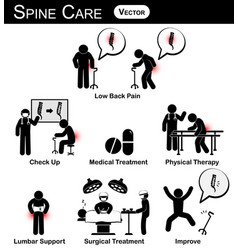 infographic of spine care concept flat design vector image vector image