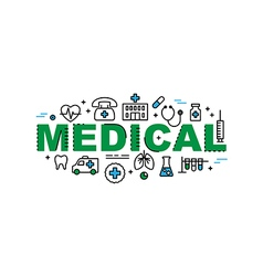 Medical banner health and medicine industry vector image