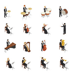orchestra people set vector image vector image