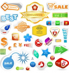 sale element vector image