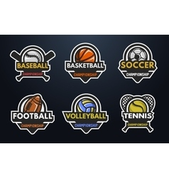 Set of sports logos vector image vector image
