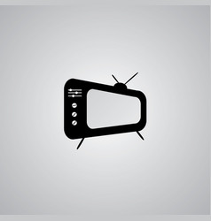 tv icon in trendy flat style isolated on grey vector image